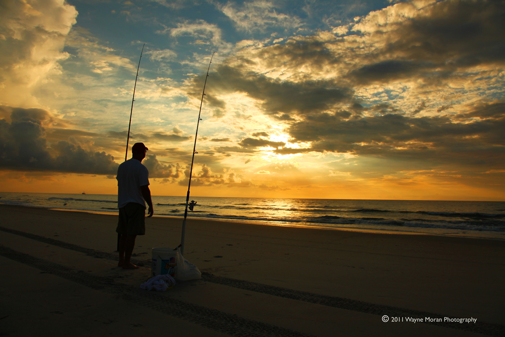 Fishing at Sunrise - Carolina Beach NC