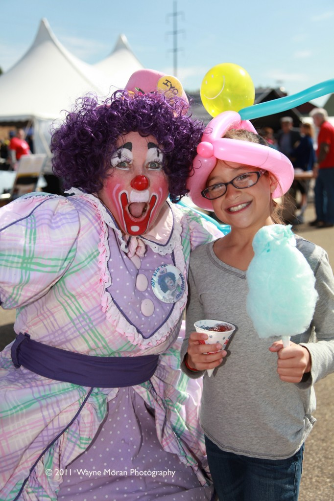 The joy from a Clown at Jubilee Minnesota 2011 in Apple Valley Minnesota