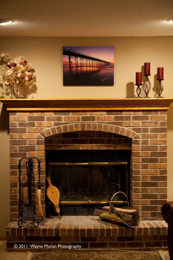 Easy Canvas Print Over the Fireplace
