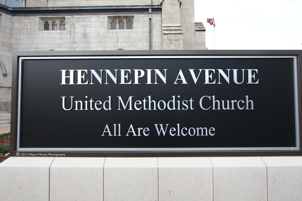 Sign for Hennepin Avenue United Methodist Church, Minneapolis