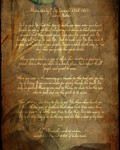 Tecumseh Poem Print