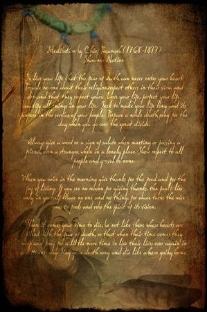 Purchase Chief Tecumseh Poem Print