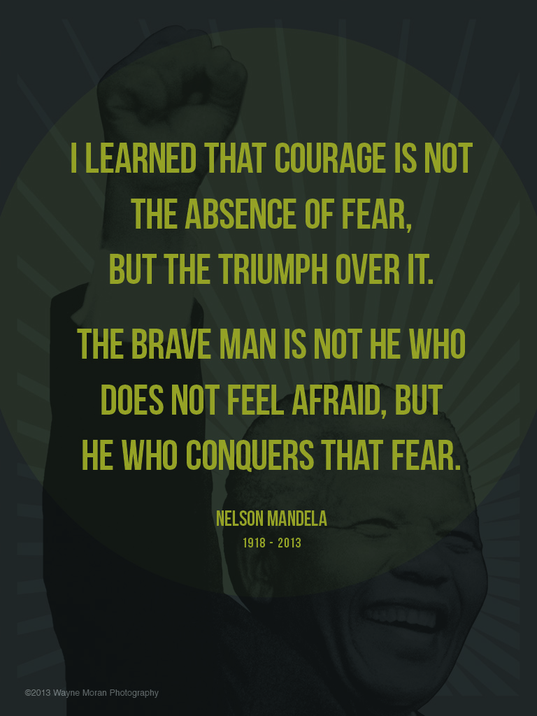 Mandela Quote I learned that courage